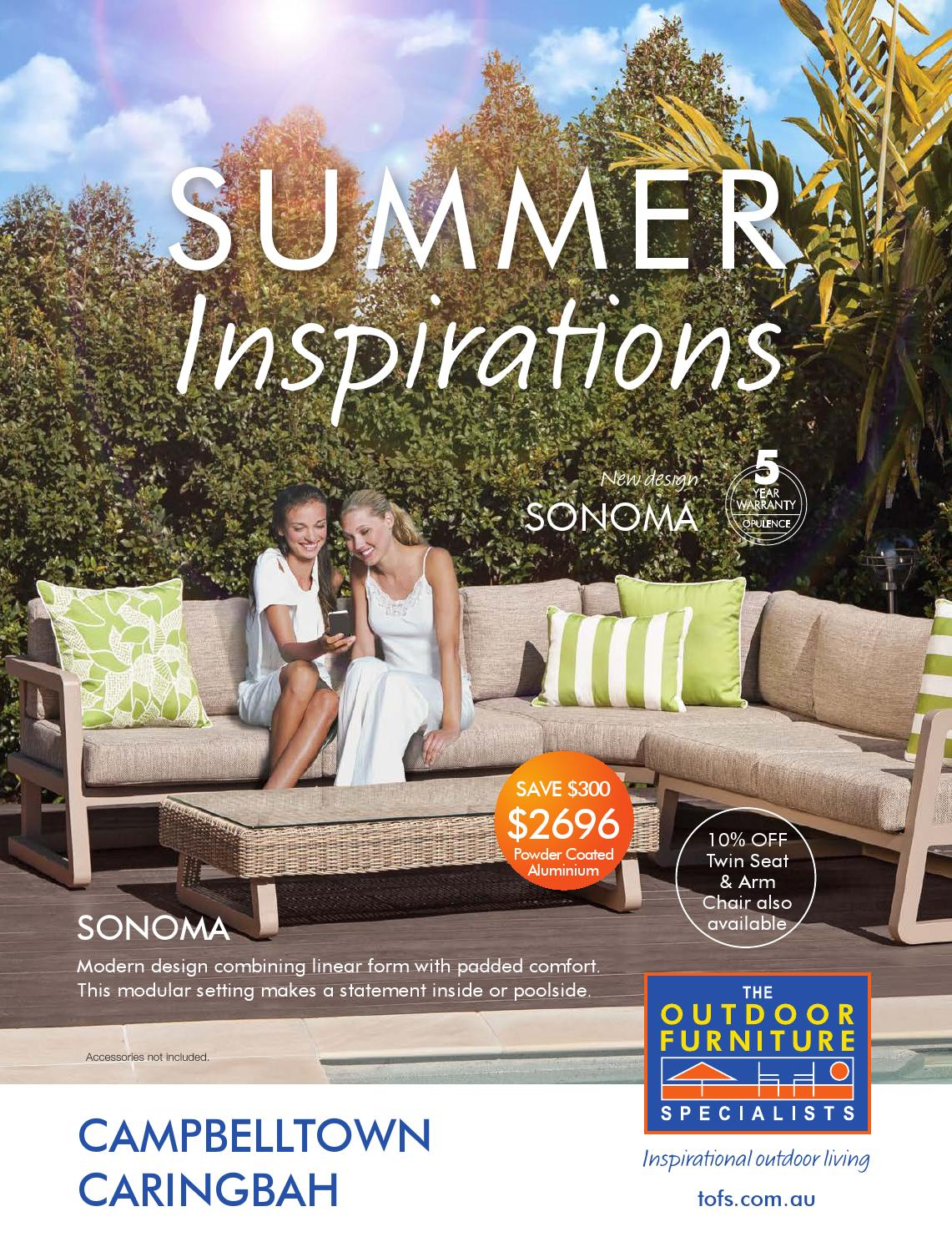 The Outdoor Furniture Specialists Campbelltown Summer