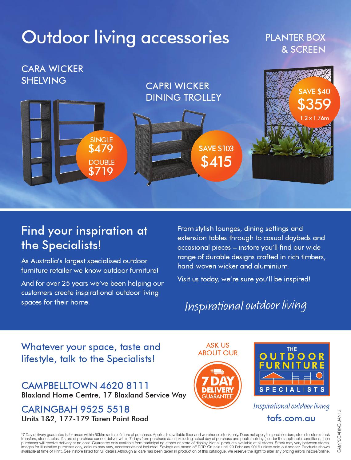 The outdoor furniture specialists campbelltown summer inspirations catalogue