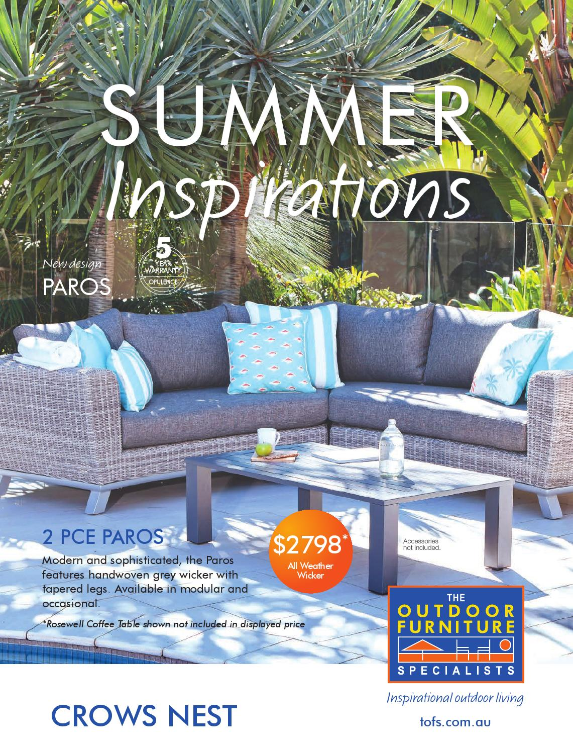 the outdoor furniture specialists crows nest summer inspirations catalogue by tofs the outdoor furniture specialists issuu - Furniture Specialist