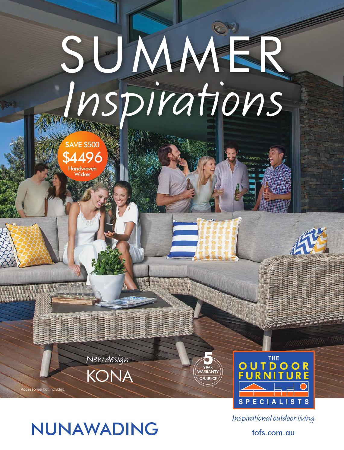 The outdoor furniture specialists nunawading summer inspirations catalogue