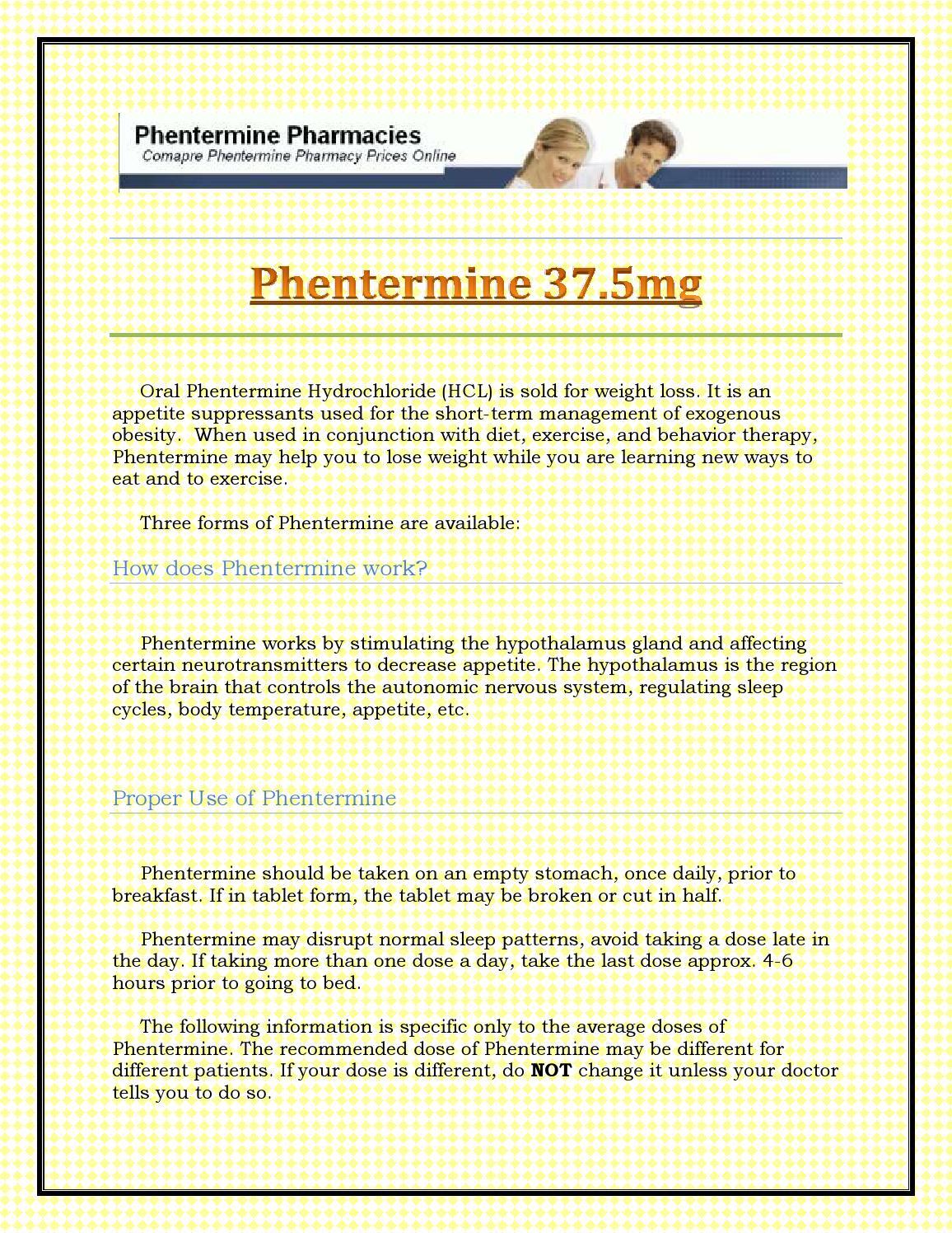 Half dose of phentermine