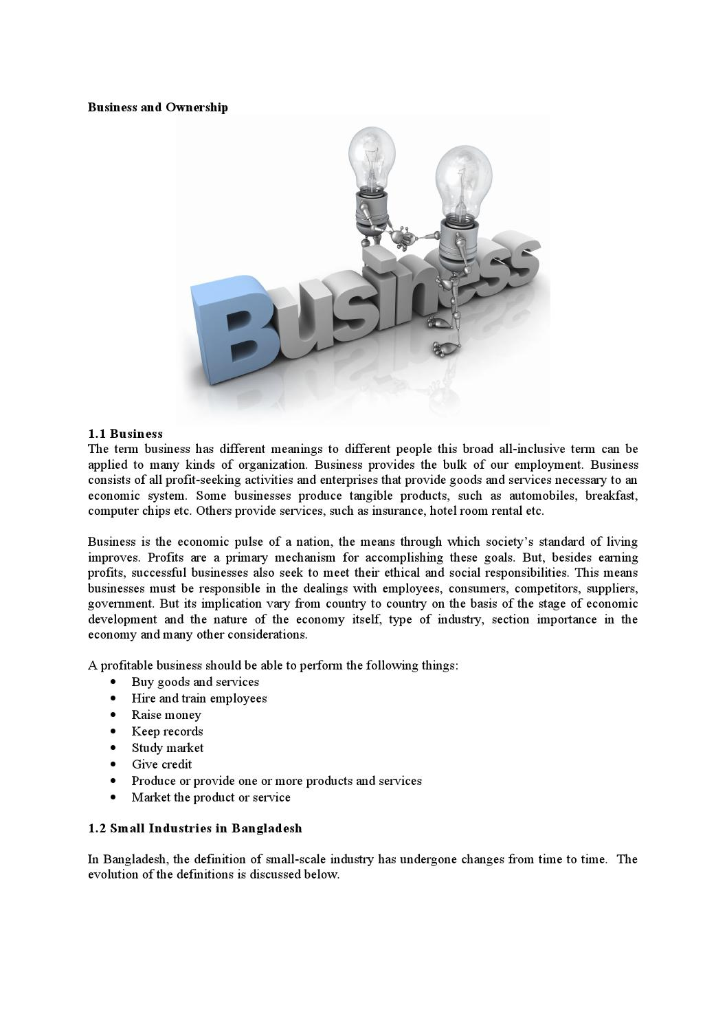 Brief analysis on business and ownership by Md Papon - issuu