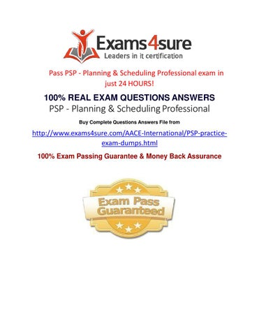 PSP Exam Questions by Exams Sure - issuu