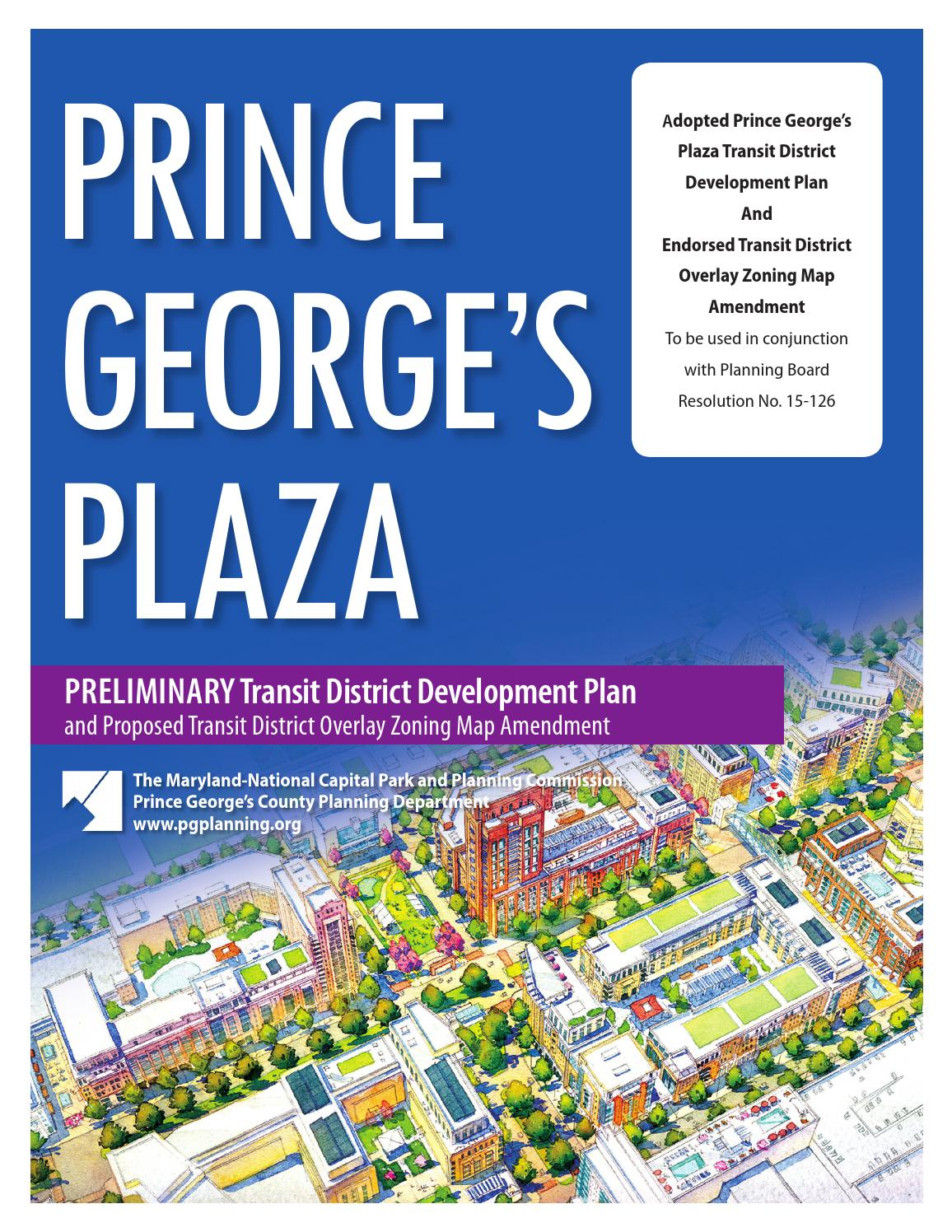 Prince Georges Plaza Preliminary Tddp And Proposed Tdozma By