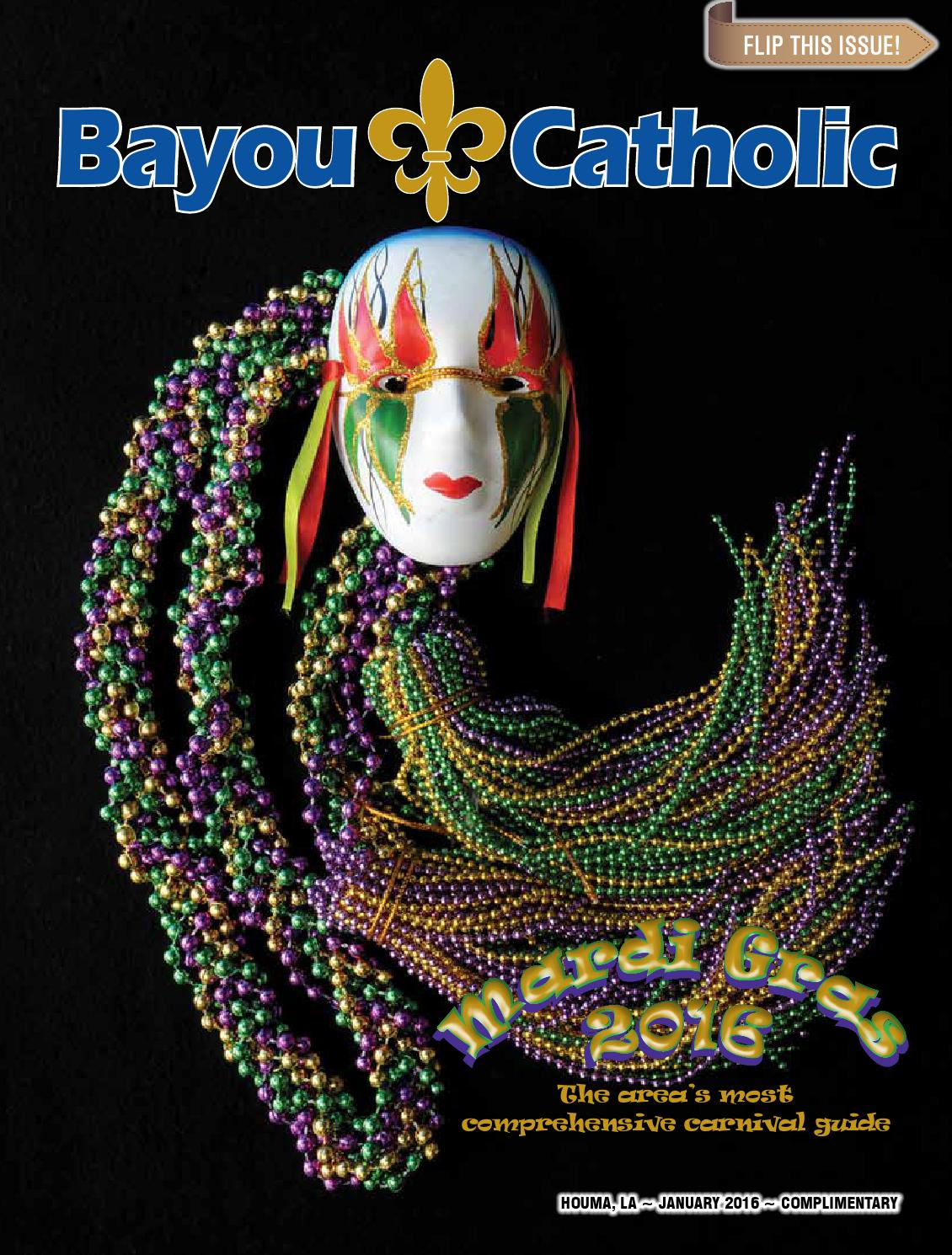 Bayou Catholic January 2016 Mardi Gras By Diocese Of Houma Thibodaux
