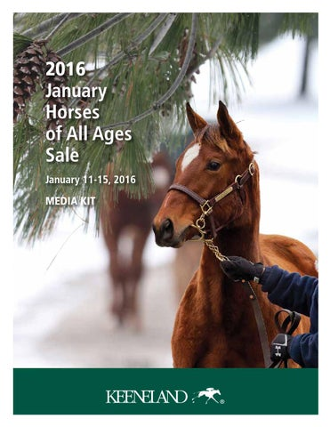 2016 January Horses Of All Ages Sale Media Kit By