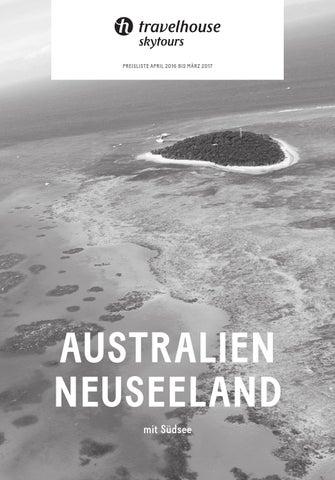 Preisliste Travelhouse Australien, Neuseeland von April 2016 bis ...