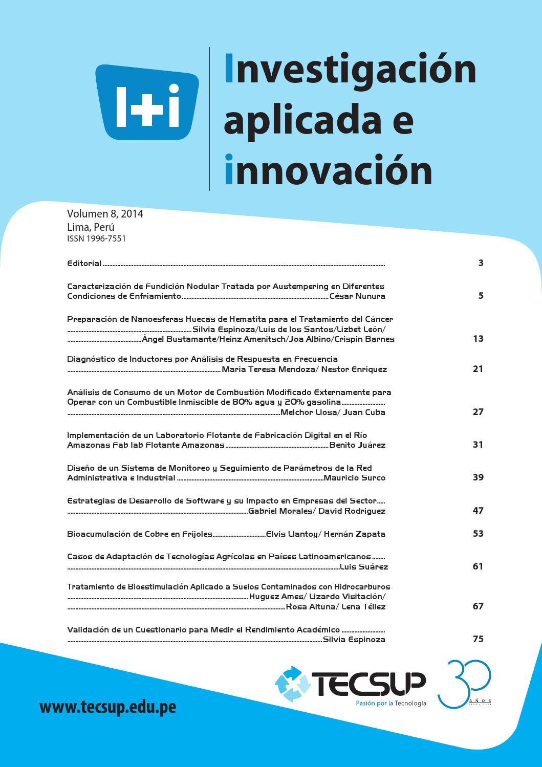 Revista I+i 2014 by Ceditec_Tecsup - issuu