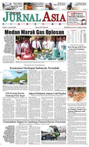 Harian Jurnal Asia Edisi Kamis, 07 Januari 2016