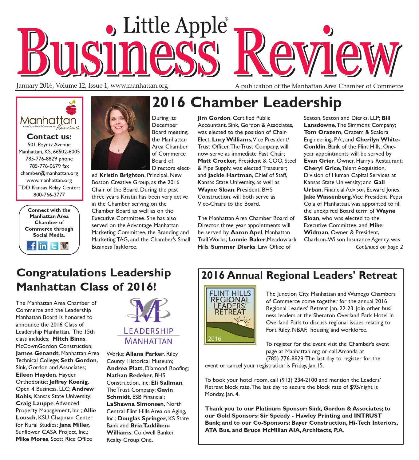 Little Apple Business Review January 2016 by Dena Huff issuu