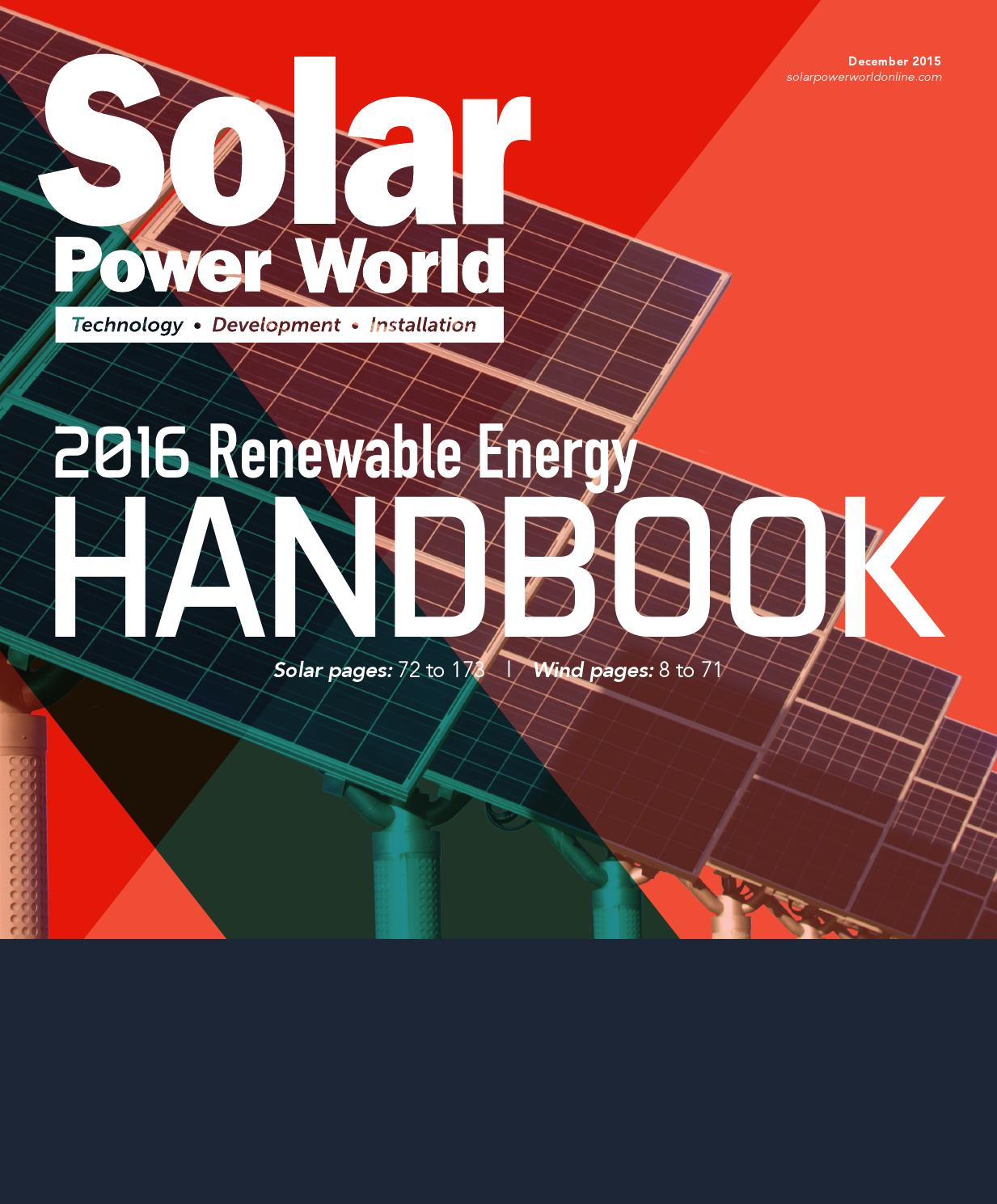 2016 Renewable Energy Handbook Solar By Wtwh Media Llc Issuu Overhead Crane Wiring Diagram In Addition Panel Regulator Charge