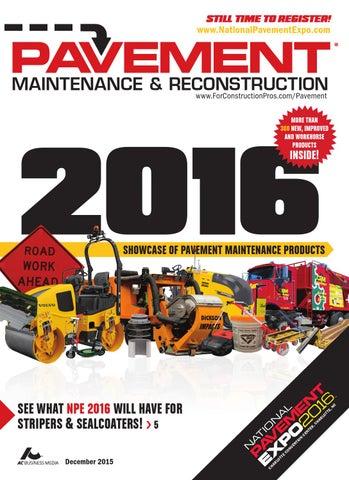 Pavement Maintenance & Reconstruction December 2015 by
