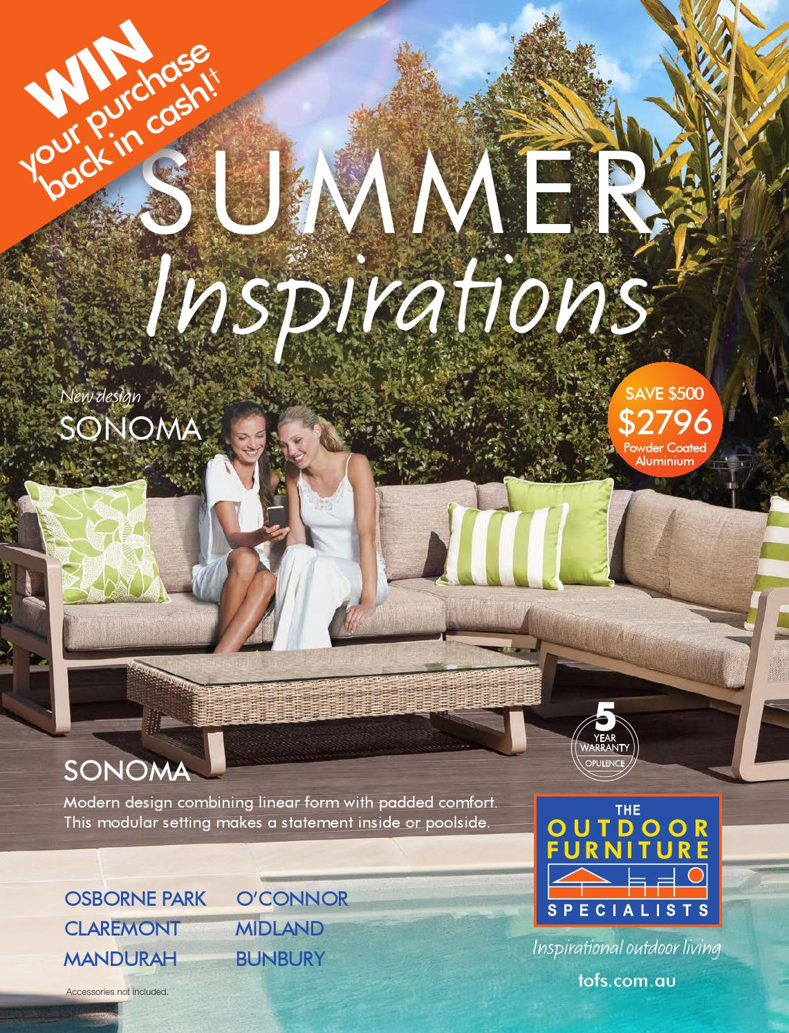 The Outdoor Furniture Specialists Wa Summer Inspirations