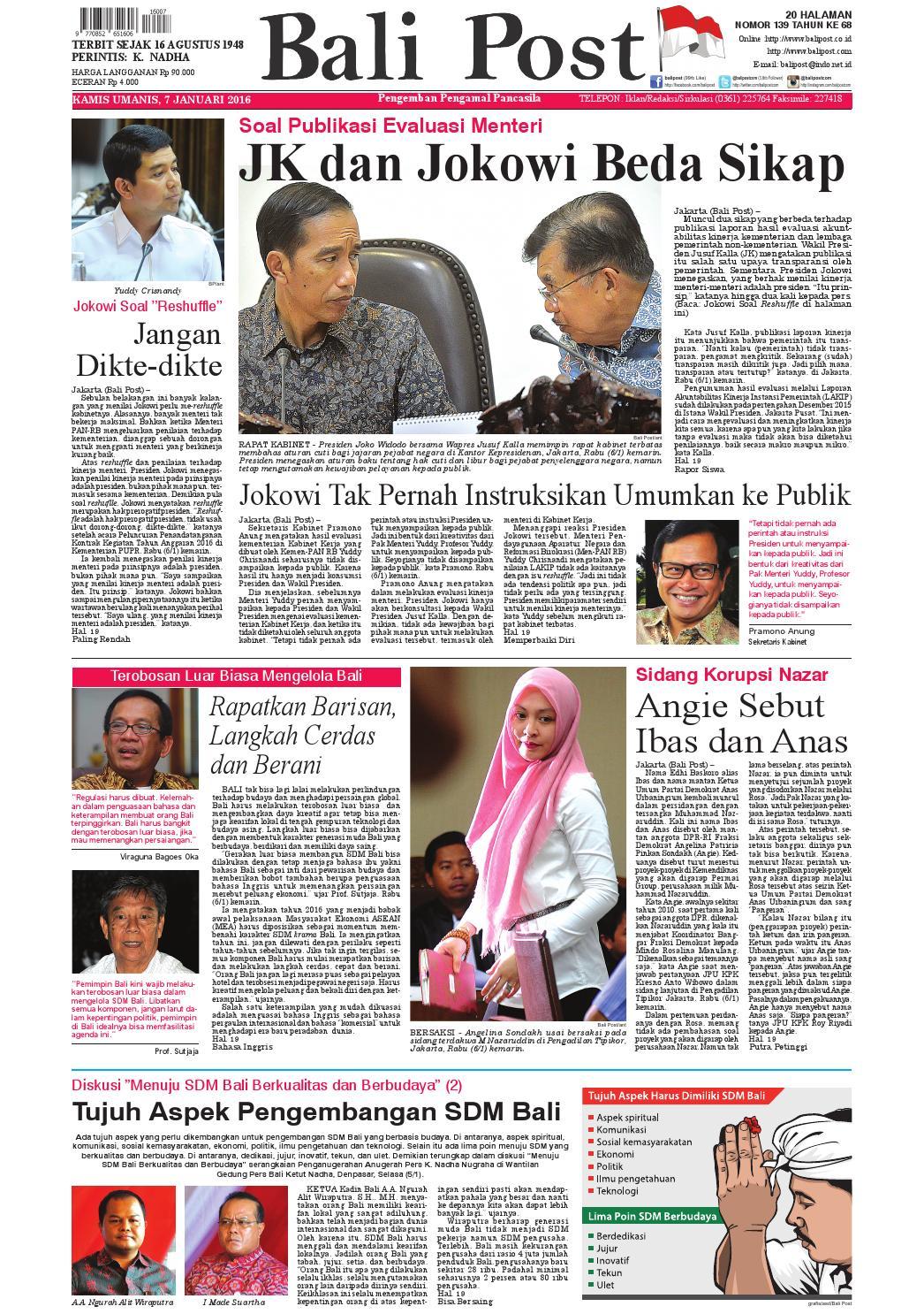 Edisi 07 Januari 2016 Balipostcom By E Paper Kmb Issuu Produk Ukm Bumn Tenun Pagatan Kemeja Pria Biru Kapal