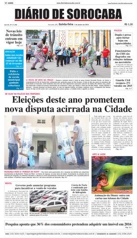Edição de 7 de janeiro de 2016 by DIÁRIO DE SOROCABA - issuu 6a03d916e2815