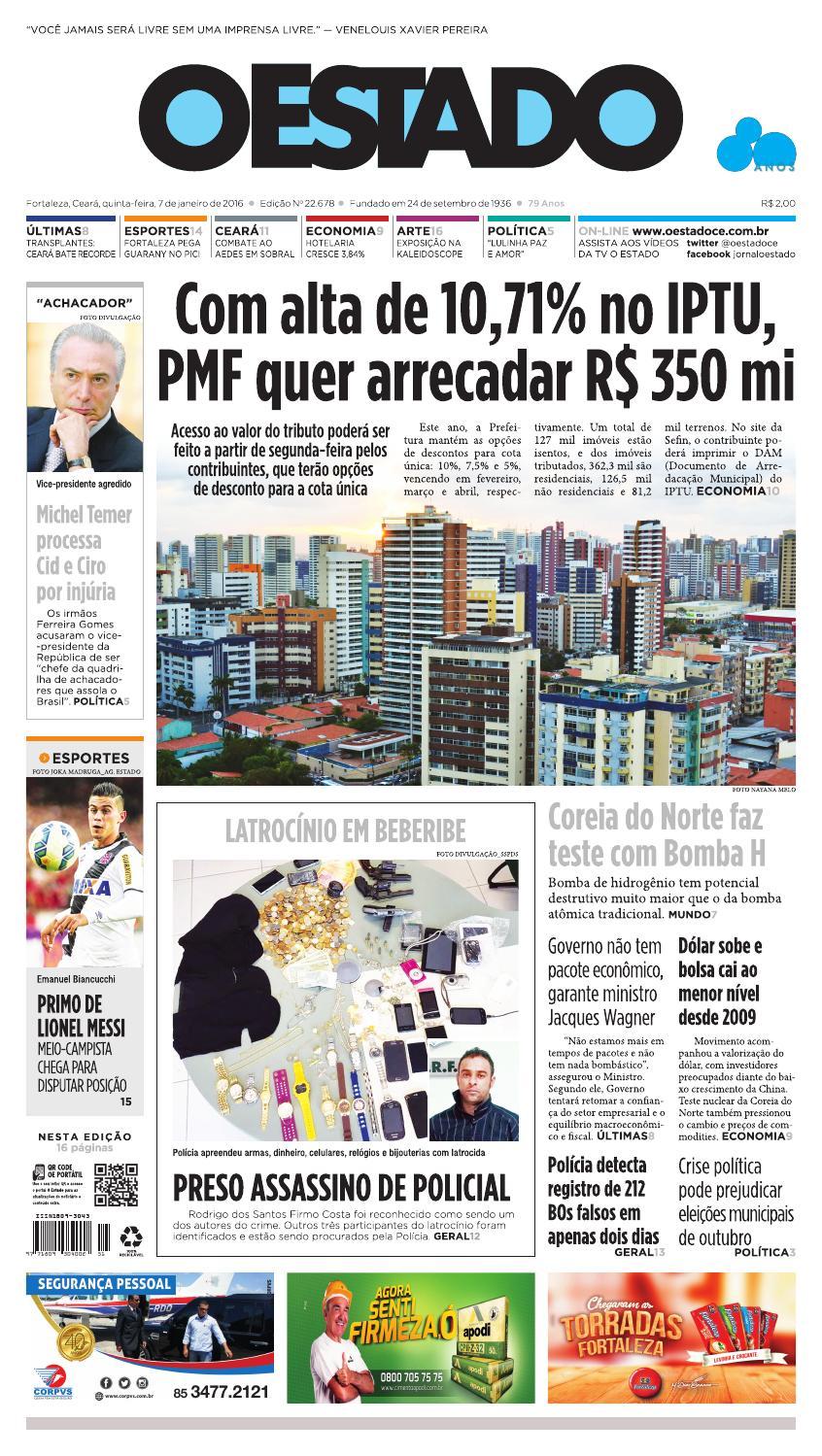 b416a87834 07 01 2016 – Edição 22677 by Jornal O Estado (Ceará) - issuu