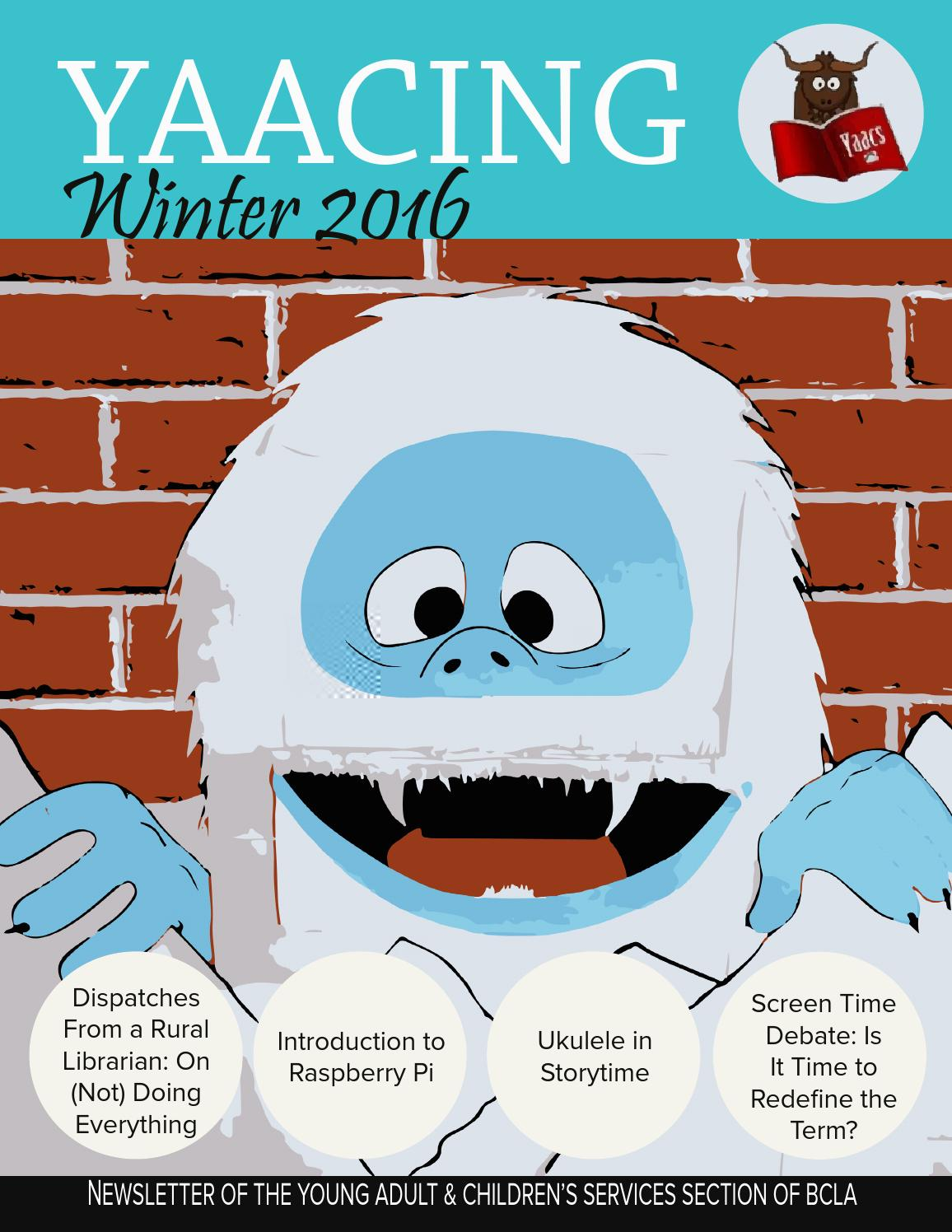 Yaacing Winter 2016 by Young Adults and Children\'s Services - issuu