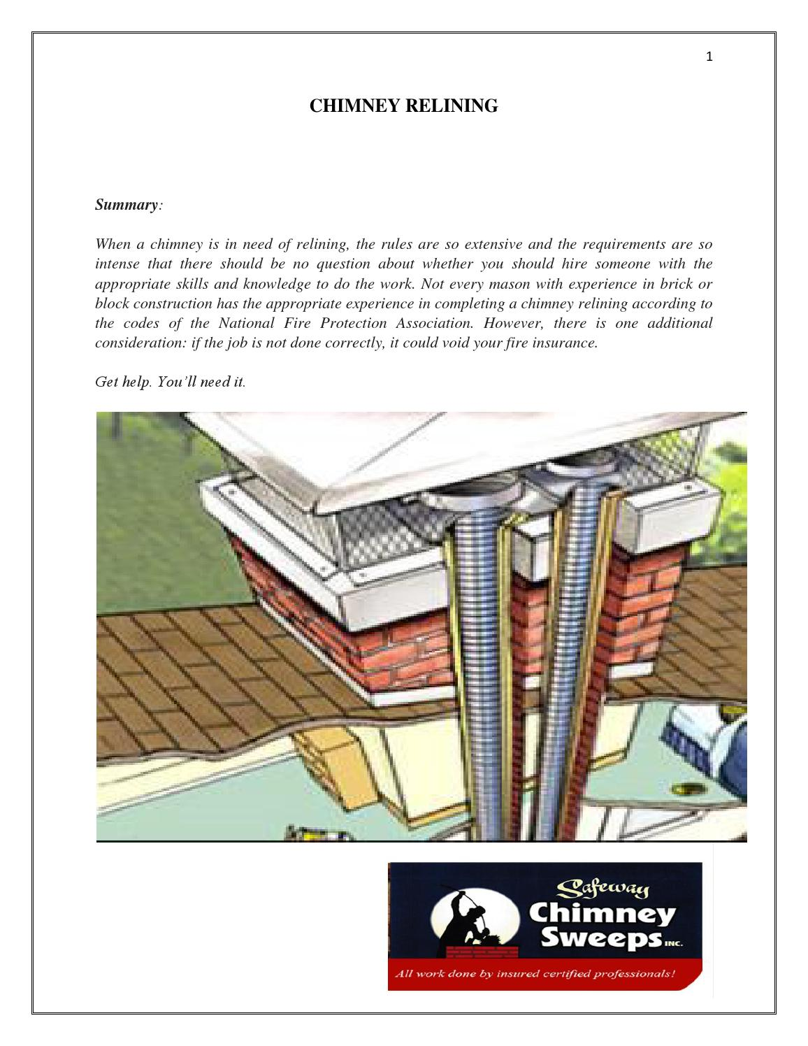 Chimney Relining By Safeway Chimney Sweeps Inc Issuu