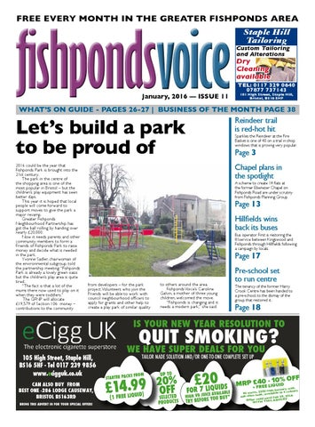 6de55a9bf8b Fishponds Voice Newspaper January 2016 by Fishponds Voice - issuu
