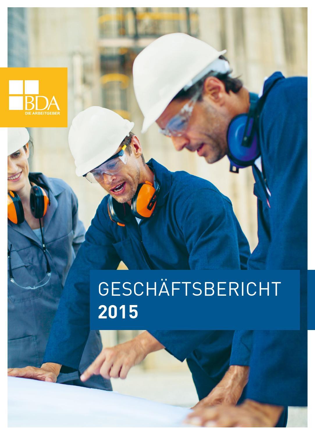 Geschäftsbericht 2015 by BDA - issuu