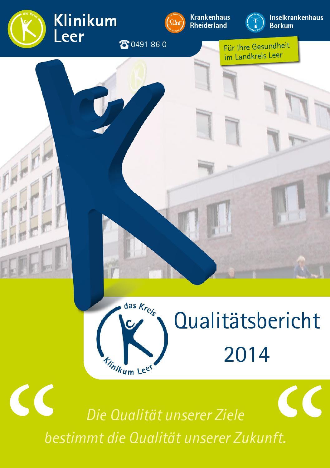 Qualitätsbericht Klinikum Leer 2014 by klinikumleer - issuu
