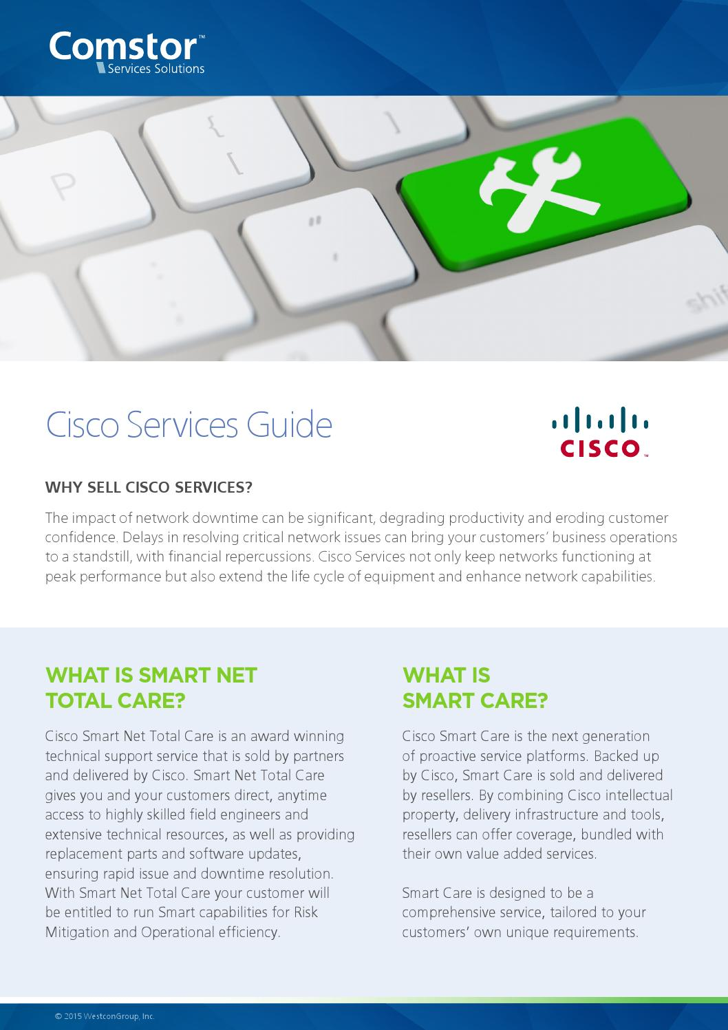 Comstor Cisco Services Guide by Katharina Boelter - issuu