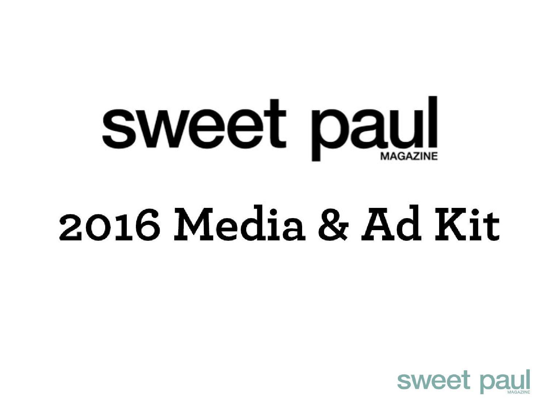 Sweet Paul 2016 Ad Kit by Sweet Paul Magazine - issuu