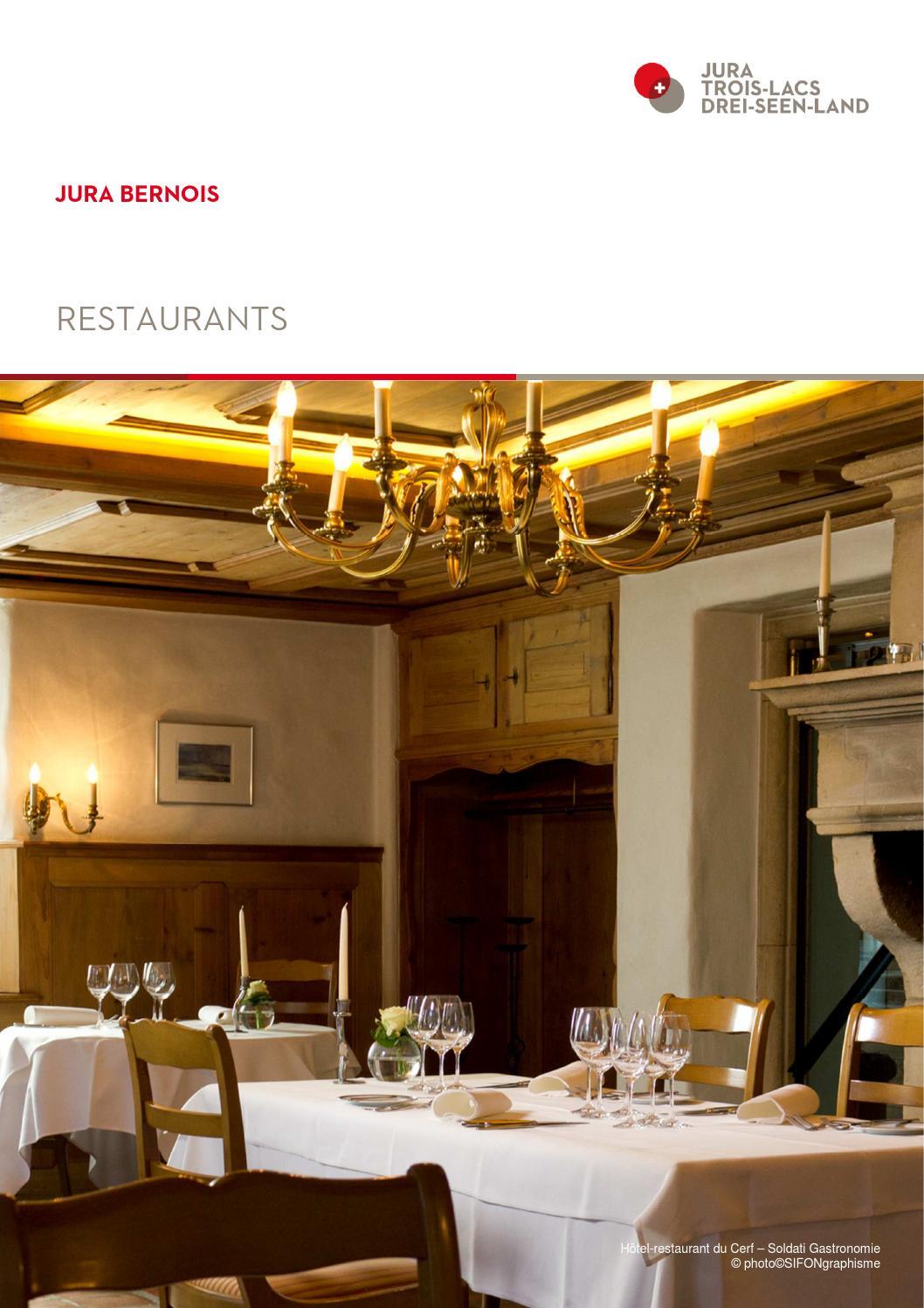 Restaurant jura bernois by madeleine issuu - Office du tourisme jura bernois ...