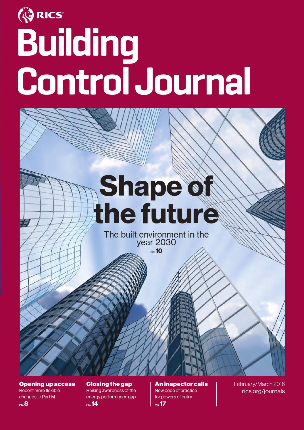 Building Control Journal February-March 2016
