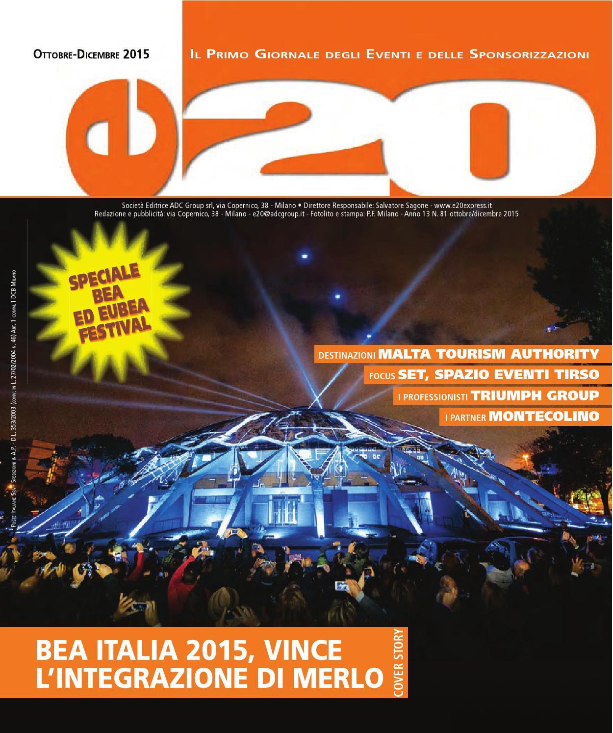 a7ec5d40a1e3 e20 Ott Nov Dic 2015 by ADC Group - issuu