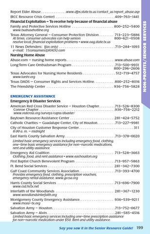 Senior Resource Guide Southwest Houston (Fall/Winter 2015) by Senior
