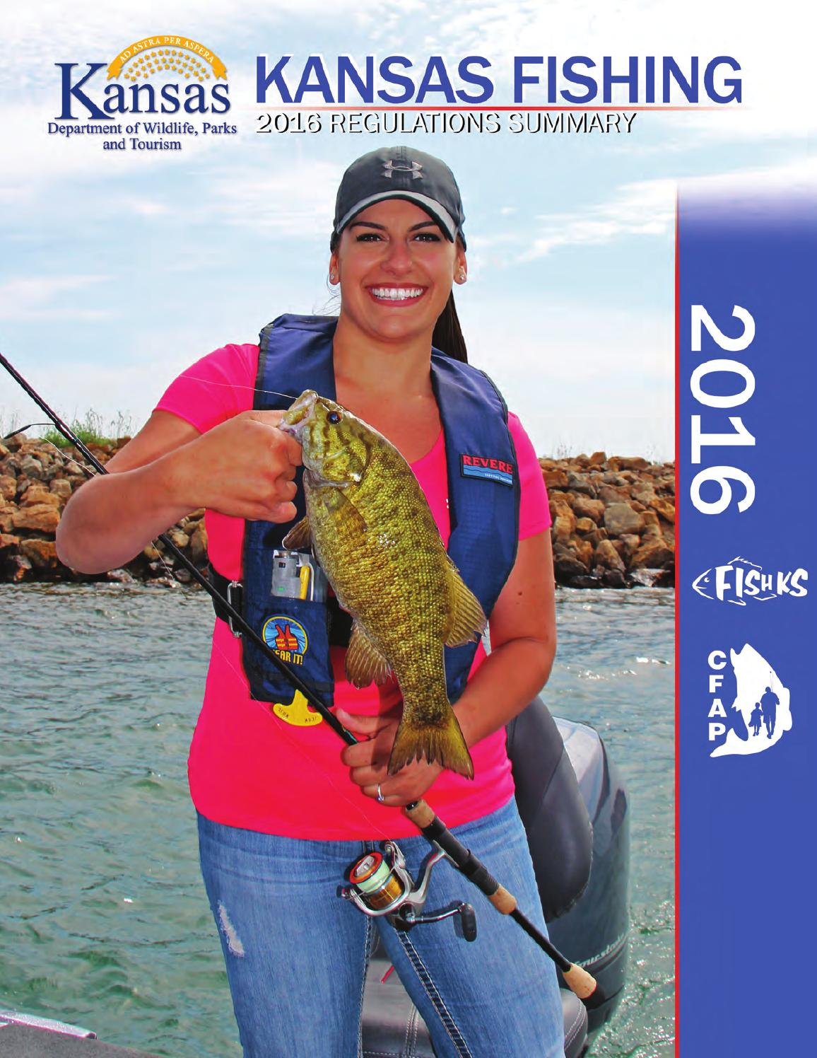 2016 kansas fishing regulations by kansas department of for Ks fishing license