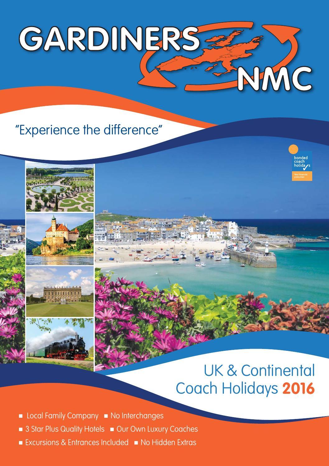 Gardiners NMC UK & Continental Coach Holidays 2016 by Chris Pangburn ...