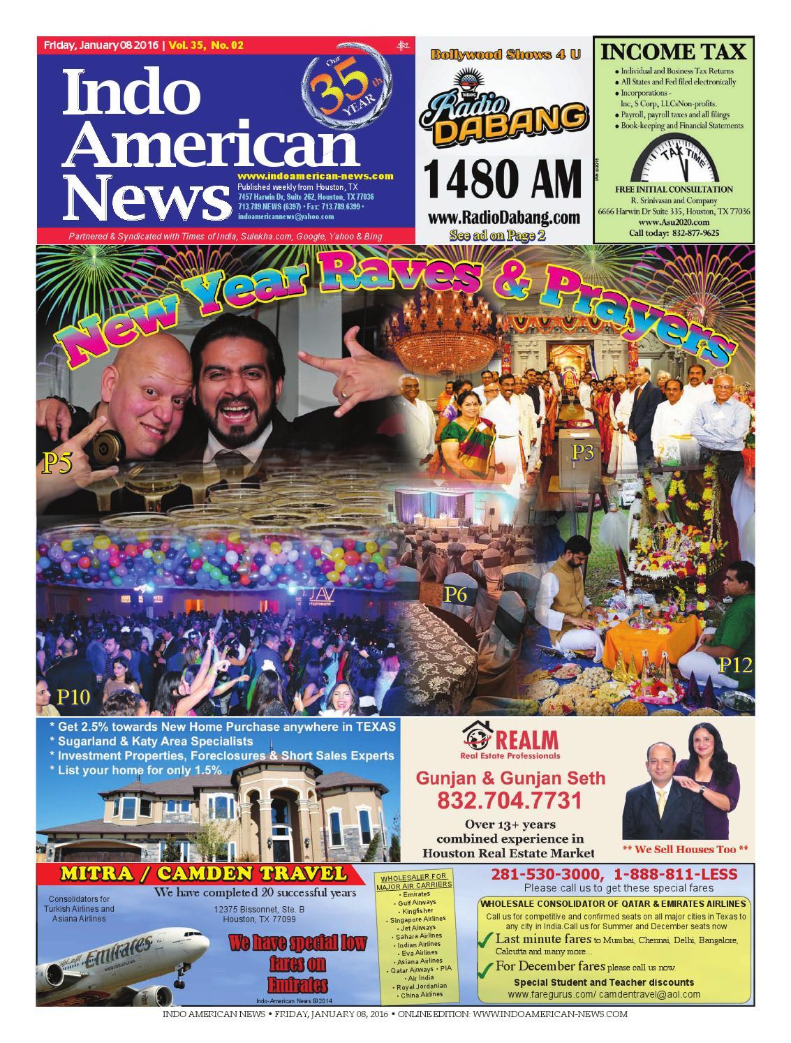 E newspaper01082016 by Indo American News - issuu