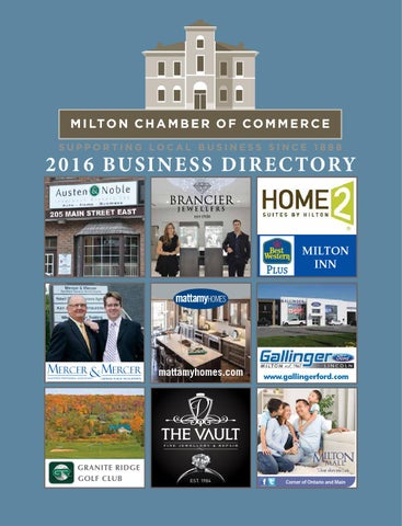 2016 Milton Chamber Of Commerce Business Directory By Milton Chamber