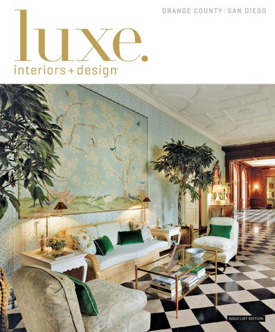 Luxe Magazine January 2016 Orange County San Diego By SANDOWR