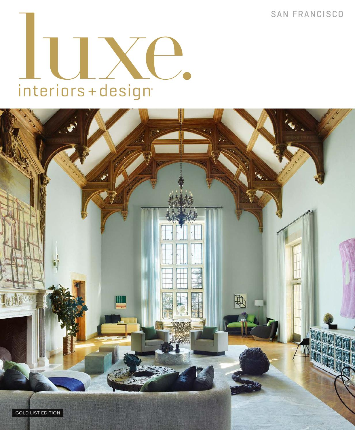 Luxe Magazine January 2016 San Francisco By Sandow Media LLC