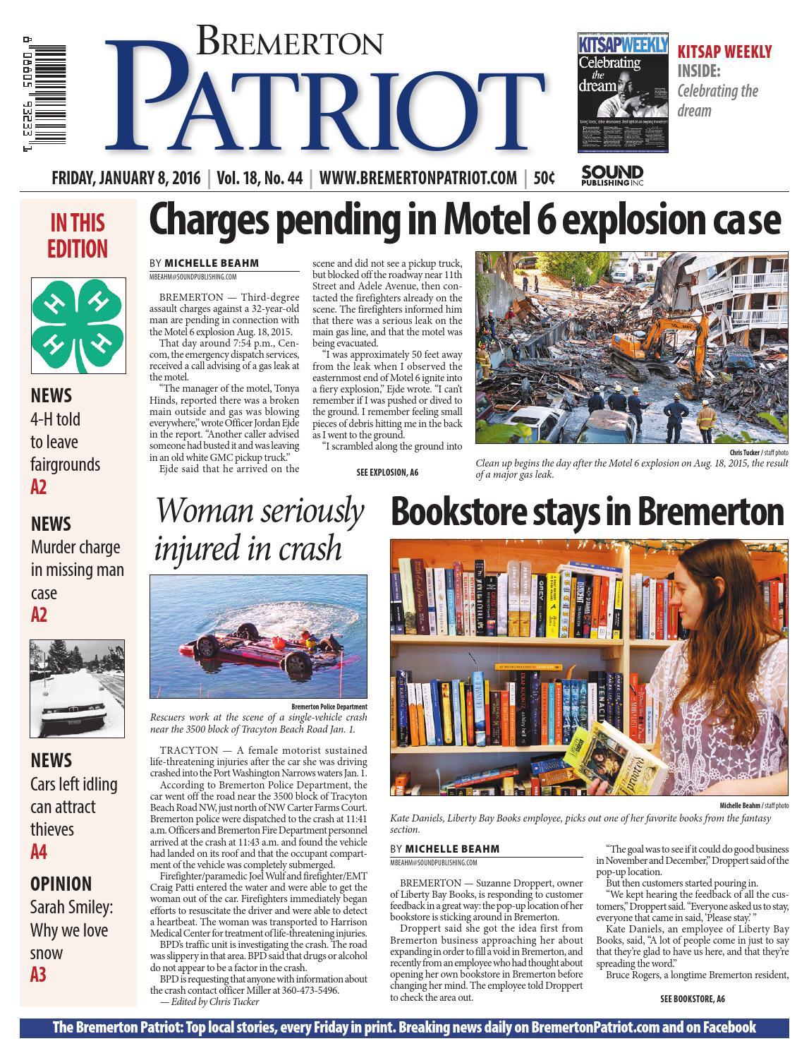 Bremerton Patriot, January 08, 2016 by Sound Publishing - issuu