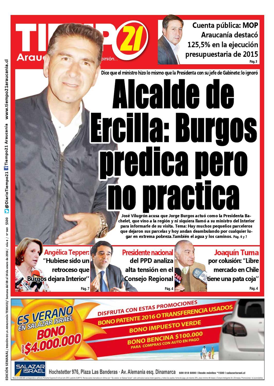 Edici N 369 Alcalde De Ercilla Burgos Predica Pero No Practica  # Muebles Jouannet Temuco