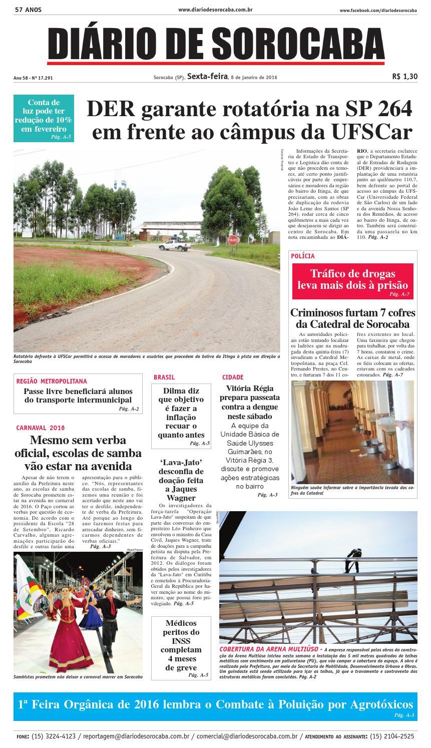 Edição de 08 de janeiro de 2016 by DIÁRIO DE SOROCABA - issuu e7671540b9a