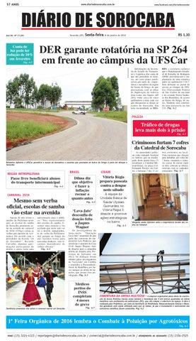 Edição de 08 de janeiro de 2016 by DIÁRIO DE SOROCABA - issuu 67d0de403d3ed