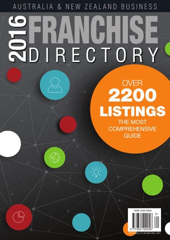 2016 Aus NZ Business Franchise Directory By CGB Publishing