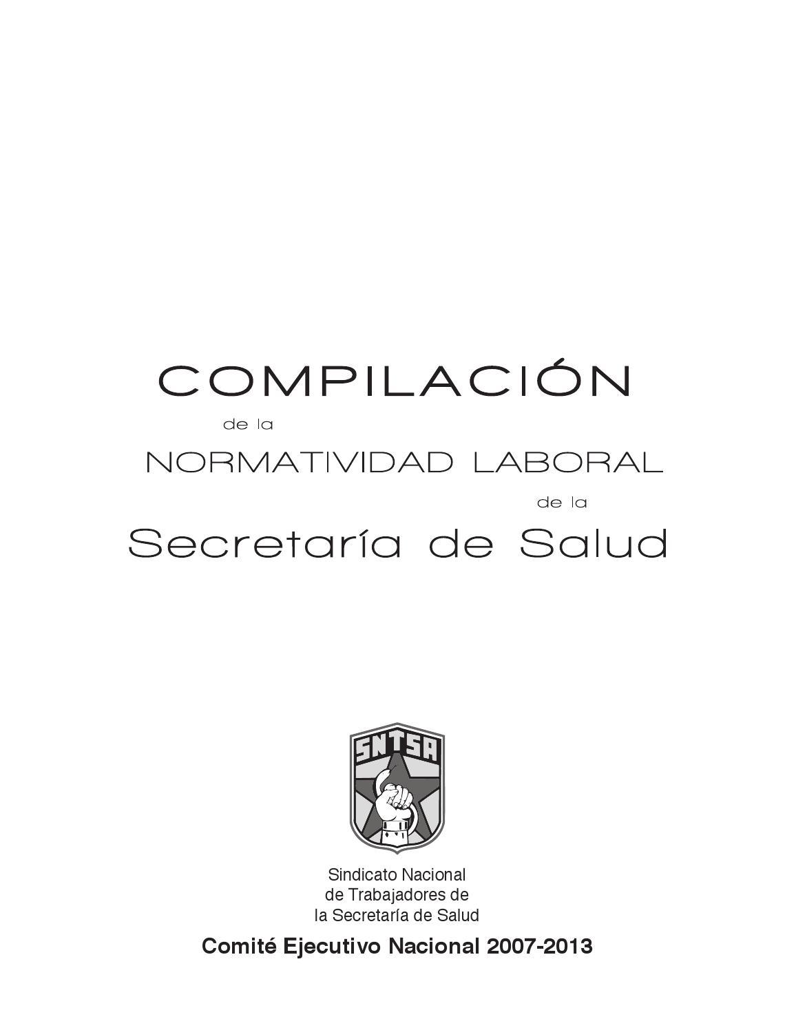 Compilacion de la normatividad laboral de la secretaria de salud by ...