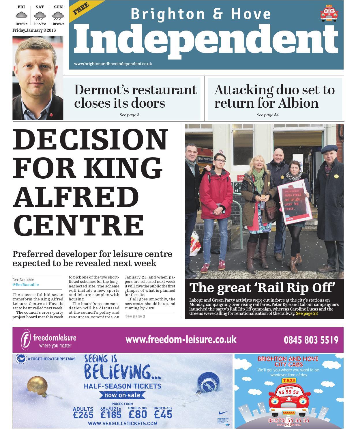 Brighton \u0026 Hove Independent - 8 January 2016 by Brighton \u0026 Hove ...