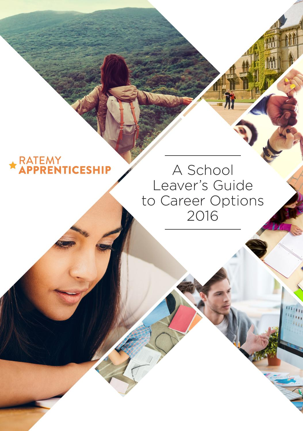 a school leaver u0026 39 s guide to career options 2016 by rmp