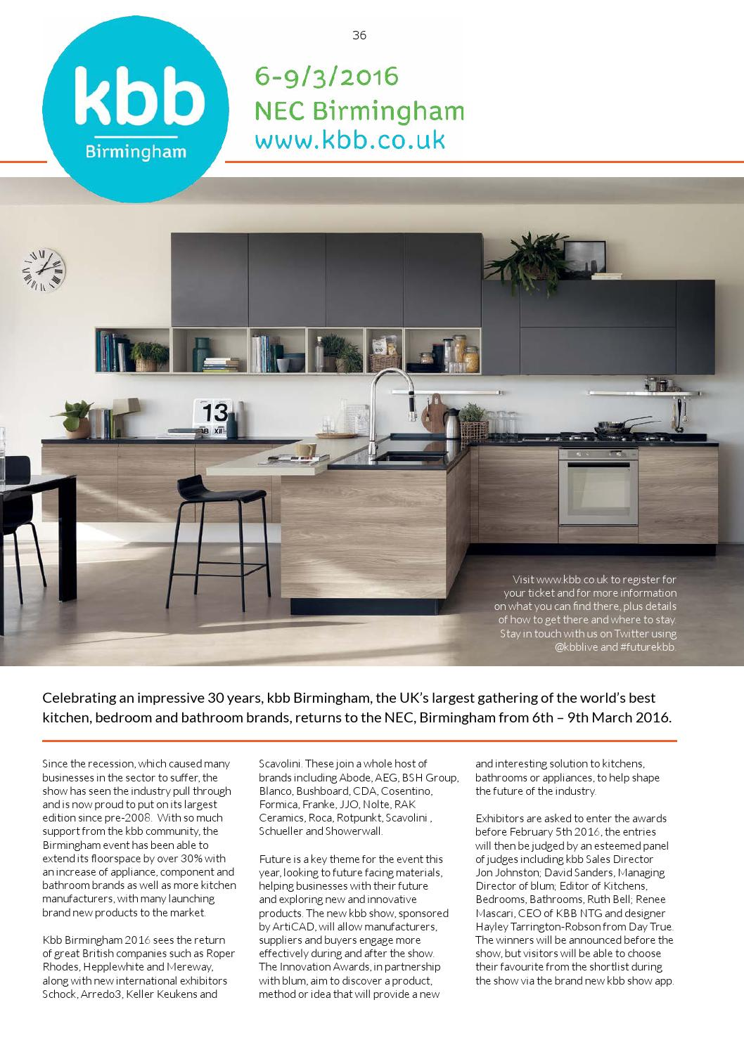 The art of design issue 18 2016 by mh media global issuu for Kbb birmingham 2016