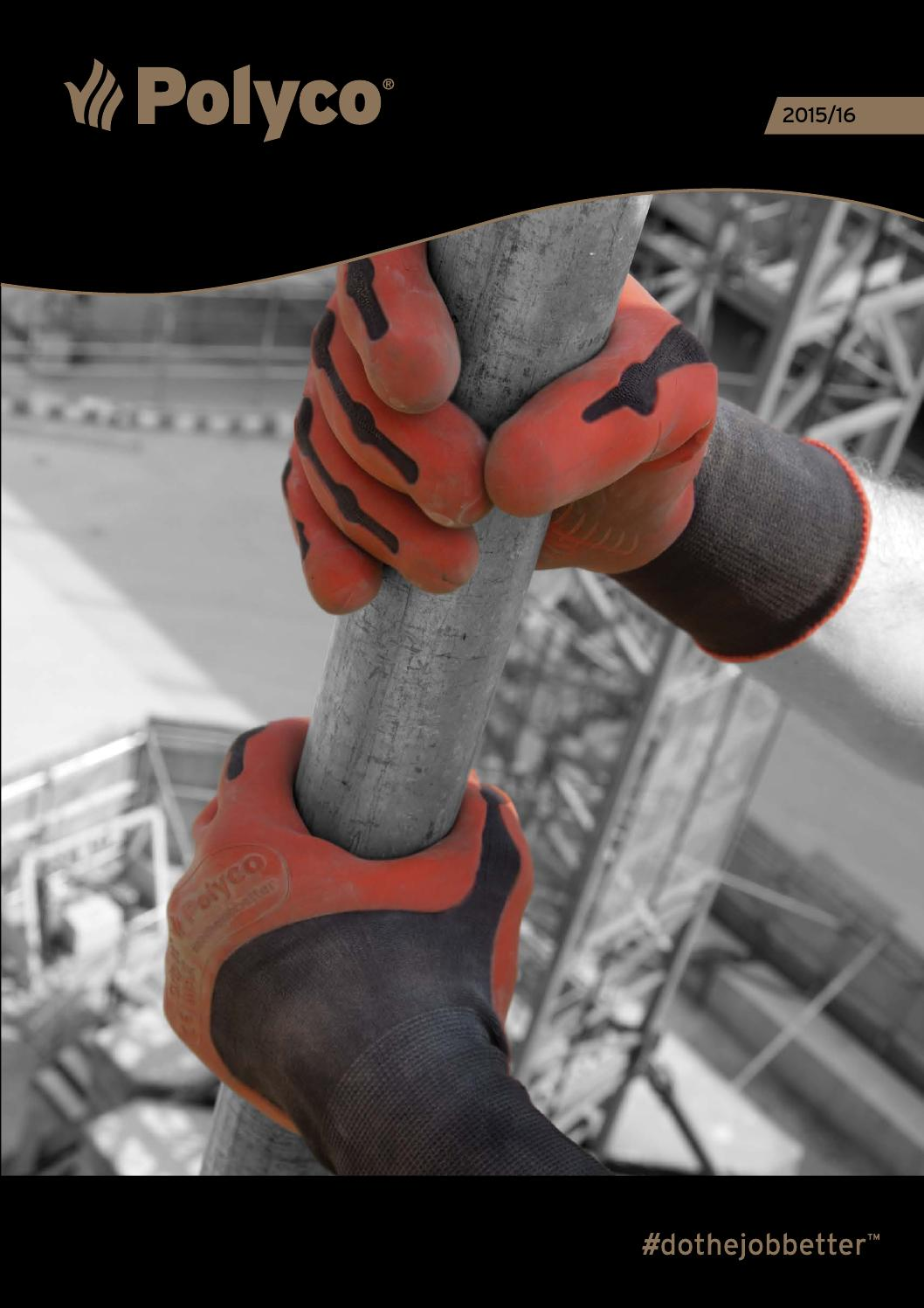 Polyco Nitron Plus Mens Work  Gloves Cut 4 Resistance Nitrile Coated Protection