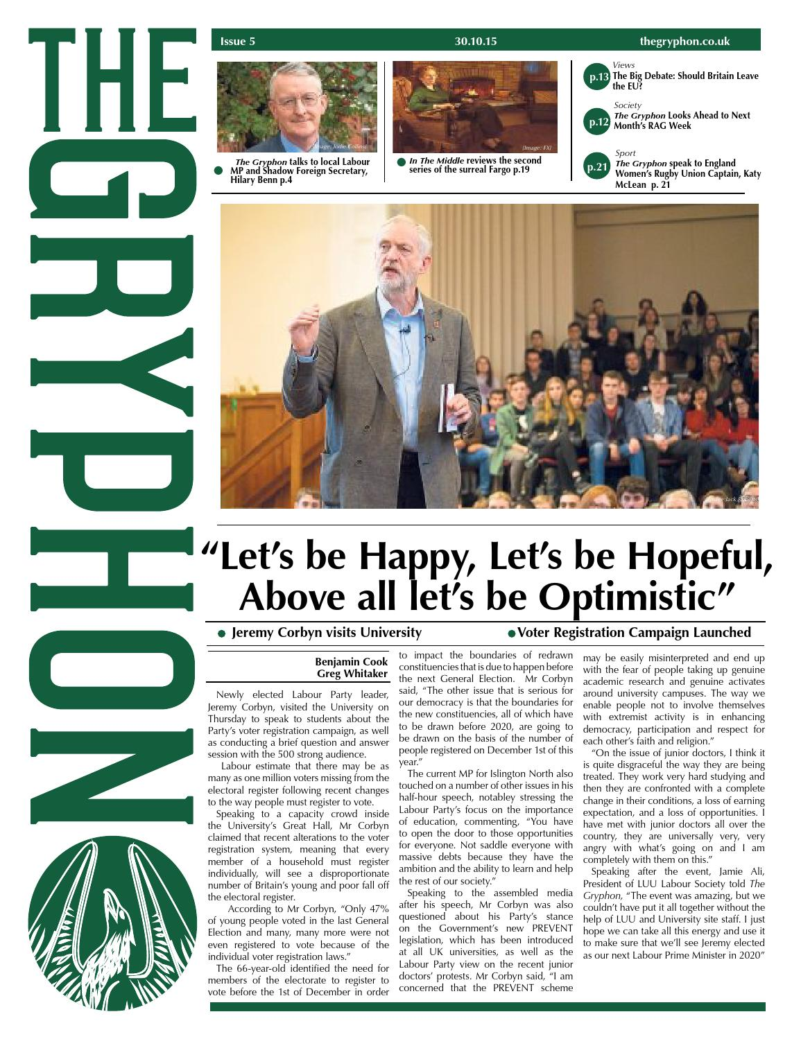 6628bba71e The Gryphon Issue 5 - 30/10/2015 by The Gryphon - issuu