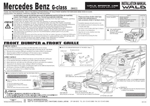 mercedes g 463 wald installation manual g class by canada g issuu rh issuu com