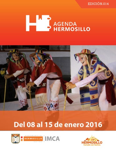 "Cover of ""Agenda Hermosillo del 08 al 15 de enero"""